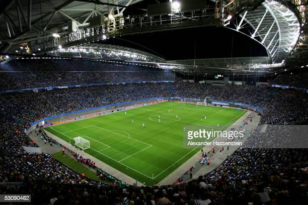 General view of the Zentralstadion during the FIFA Confederations Cup 2005 Match between Brazil and Greece on June 16, 2005 in Leipzig, Germany.