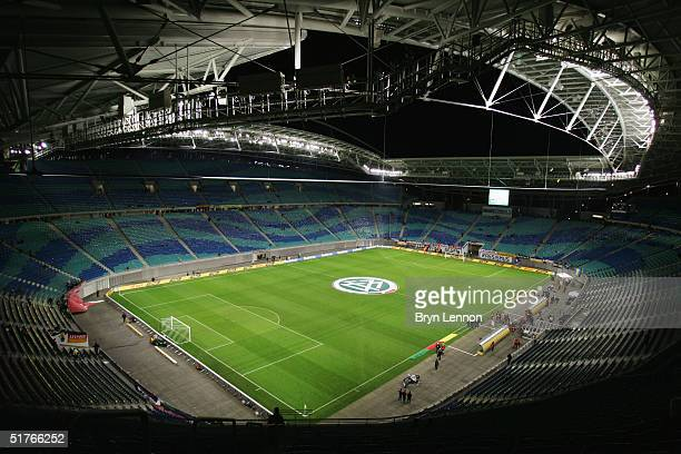 General view of the Zentralstadion prior to the international friendly between Germany and Cameroon at Zentralstadion Leipzig on November 17, 2004 in...