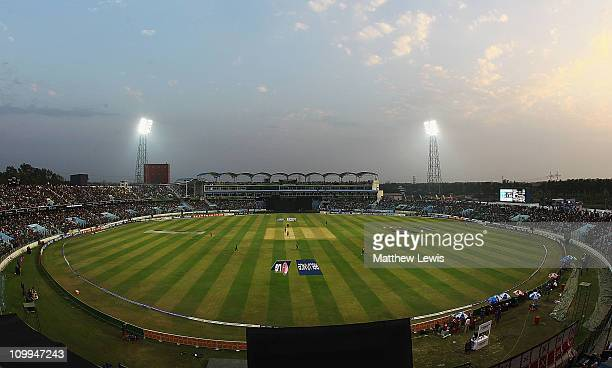 A general view of the Zohur Ahmed Chowdhury Stadium during the 2011 ICC World Cup Group B match between Bangladesh and England at Zohur Ahmed...