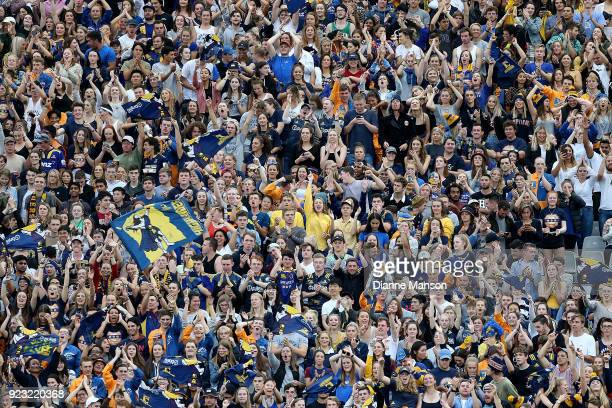 A general view of the zoo during the round two Super Rugby match between the Highlanders and the Blues at Forsyth Barr Stadium on February 23 2018 in...