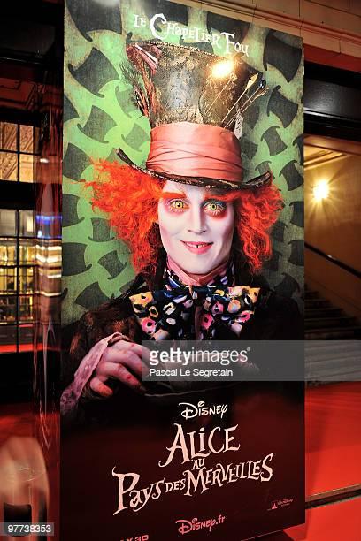 General view of Theatre Mogador during the premiere of Tim Burton's film 'Alice au pays des merveilles' on March 15 2010 in Paris France