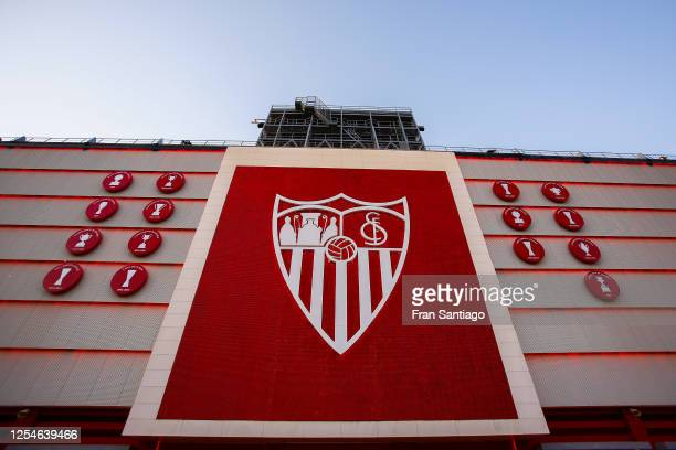 General view of ther stadium prior to the Liga match between Sevilla FC and SD Eibar SAD at Estadio Ramon Sanchez Pizjuan on July 06, 2020 in...