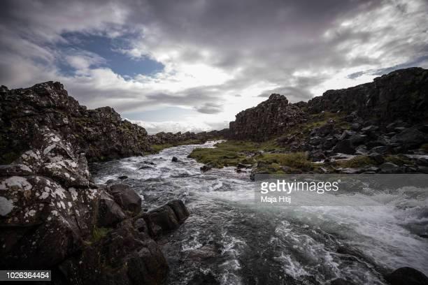 General view of Thingvellir national park or August 31 2018 at Pingvellir Iceland