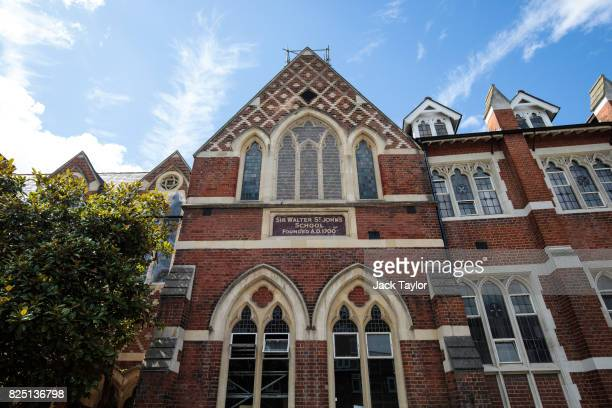 A general view of Thomas's Battersea school on August 1 2017 in Battersea England Prince George the son of the Duke and Duchess of Cambridge will...