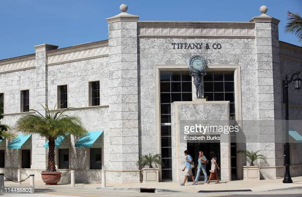 A general view of Tiffany Co on Worth Avenue on May 21 2011 in Palm Beach Florida