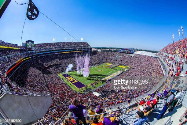 General view of Tiger Stadium before the game between LSU and Georgia on October 13 2018 at Tiger Stadium in Baton Rouge LA