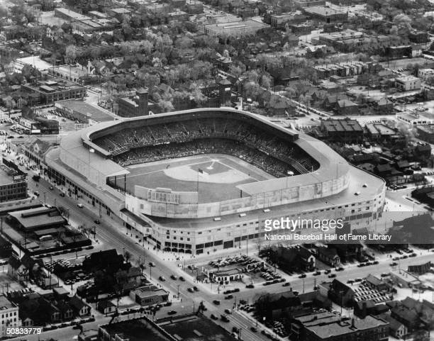 General view of Tiger Stadium, home of the Detroit Tigers circa 1912-99 in Detroit, Michigan.