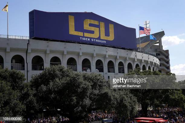 General view of Tiger Stadium on September 8, 2018 in Baton Rouge, Louisiana.