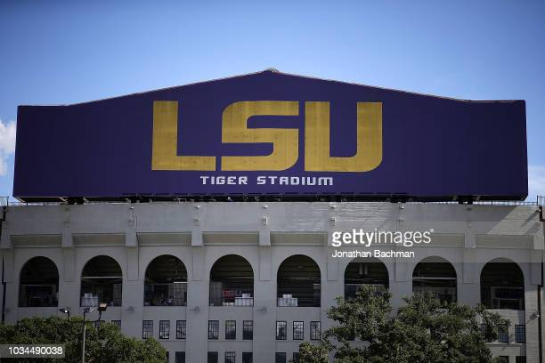 A general view of Tiger Stadium on September 8 2018 in Baton Rouge Louisiana