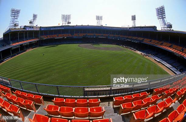 General view of Tiger Stadium prior to the final baseball game played at the 87 year old Tiger Stadium as the Detroit Tigets host the Kansas City...