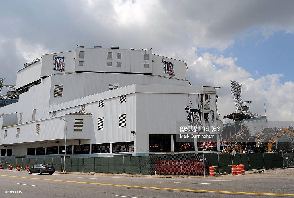 Tiger Stadium Demolition : News Photo