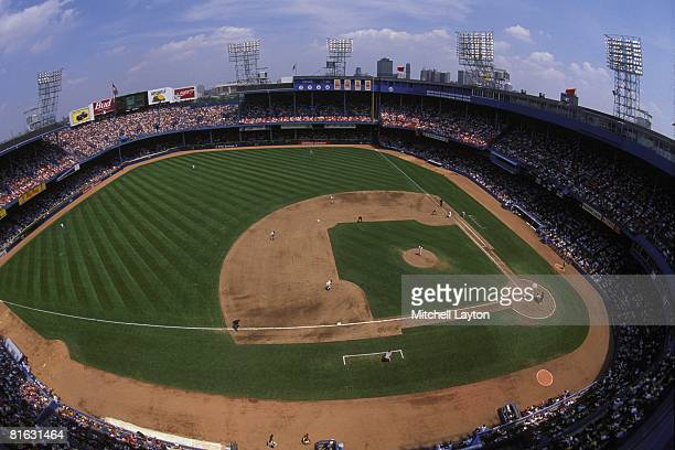 General view of Tigers Stadium during a baseball game between the Detroit Tigers and St Louis Cardinals on May 15 1994 in Detroit Michigan