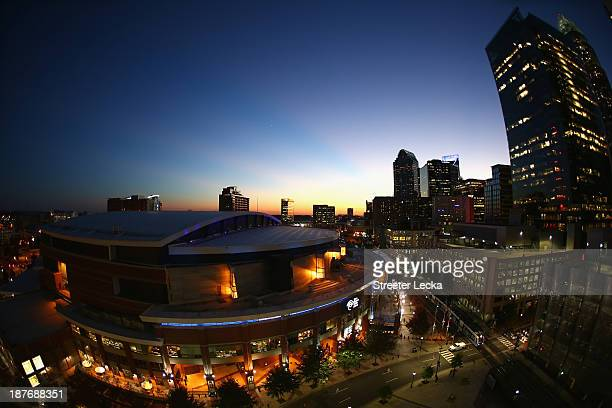 A general view of Time Warner Cable Arena before the game between the Atlanta Hawks and Charlotte Bobcats on November 11 2013 in Charlotte North...