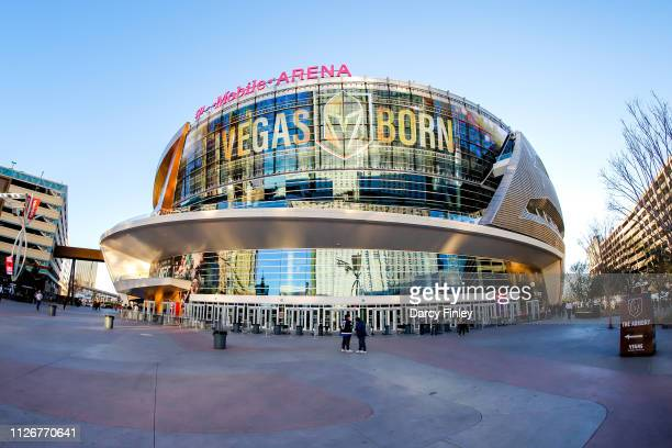 A general view of TMobile Arena prior to NHL action between the Winnipeg Jets and the Vegas Golden Knights on February 22 2019 in Las Vegas Nevada