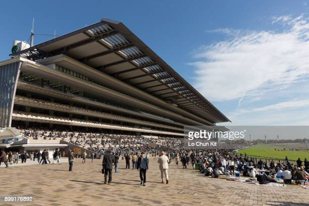 General view of Tokyo Racecourse during the Japan Cup race day on November 26, 2017. Tokyo Racecourse is considered the 'racecourse of racecourses'...