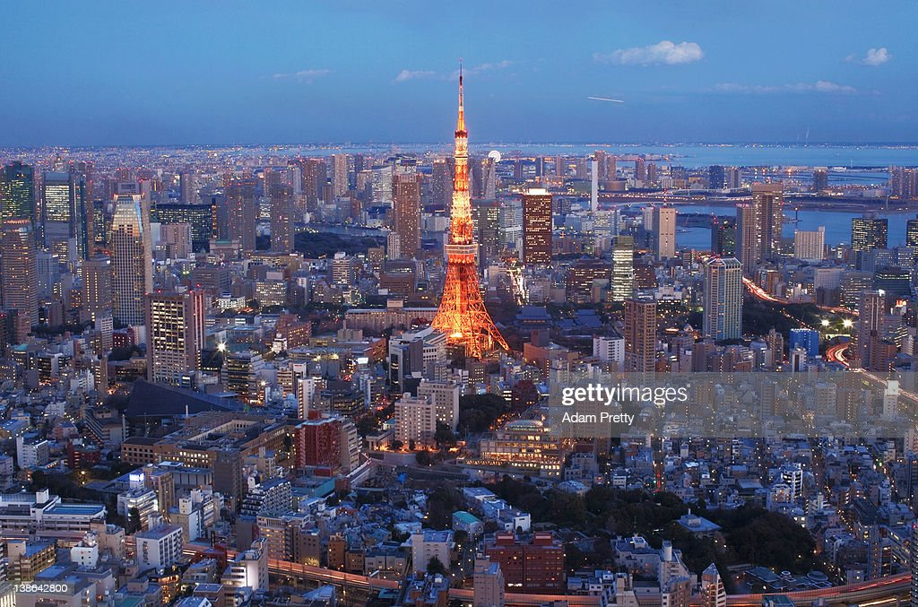 A general view of Tokyo Tower and the surrounding area on February 10, 2012 in Tokyo, Japan.