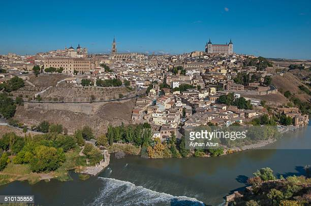 General view of Toledo and Tagus River in Spain