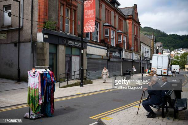 A general view of Tonypandy high street on August 23 2019 in Cardiff United Kingdom Large numbers of high street stores across the UK have closed as...