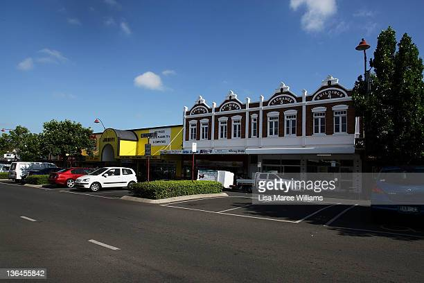 A general view of Toowoomba central business district as seen on January 6 2012 in Toowoomba Australia January 10 marks the one year anniversary of...