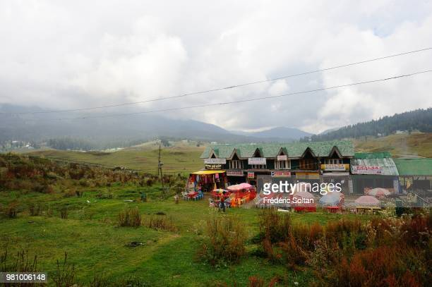 General view of top ski resort on July in Gulmarg to the west of Srinagar the summer capital of Indianadministered Kashmir Jammu and Kashmir on July...