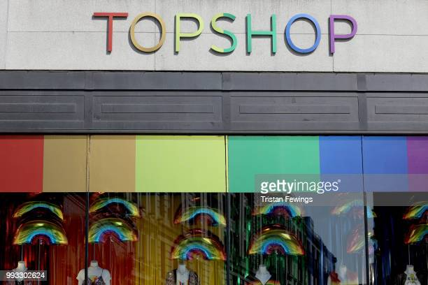 General view of Topshop store on Oxford Street store during Pride In London on July 7 2018 in London England It is estimated over 1 million people...
