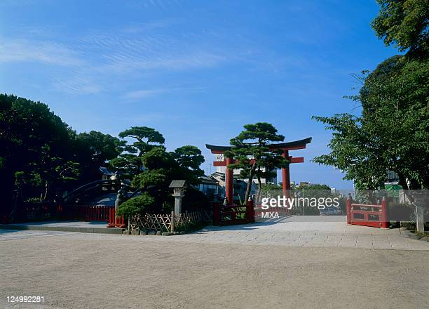 A general view of Torii Gate of Tsurugaoka Hachimangu Shrine on August 9 2008 in Kamakura Kanagawa Japan