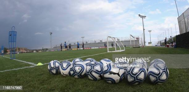 General view of Torre del Grifo sporting center during a Italy U21 Training Session on September 2, 2019 in Catania, Italy.