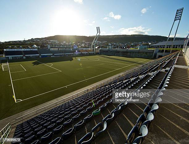 General view of Torsvollur Stadium prior to the UEFA Under21 Euro 2015 Qualifier match between Faroe Islands and Germany at Torsvollur Stadium on...