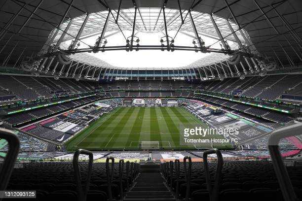 General view of Tottenham Hotspur Stadium during the Premier League match between Tottenham Hotspur and Manchester United at Tottenham Hotspur...