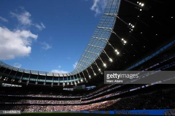 General view of Tottenham Hotspur stadium during the Premier League match between Tottenham Hotspur and Aston Villa at Tottenham Hotspur Stadium on...