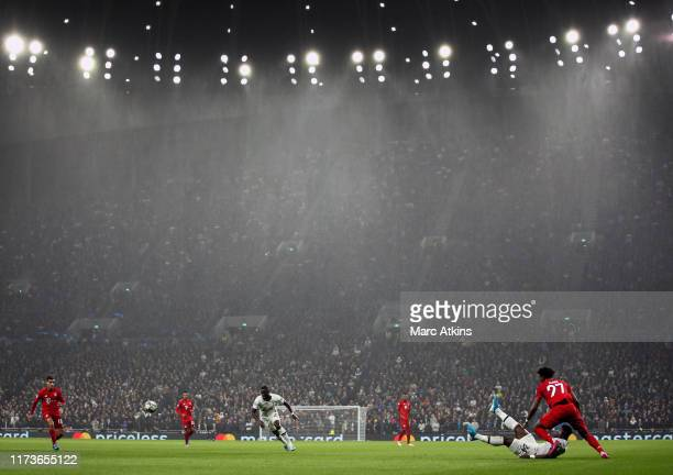 A general view of Tottenham Hotspur Stadium during the UEFA Champions League group B match between Tottenham Hotspur and Bayern Muenchen at Tottenham...