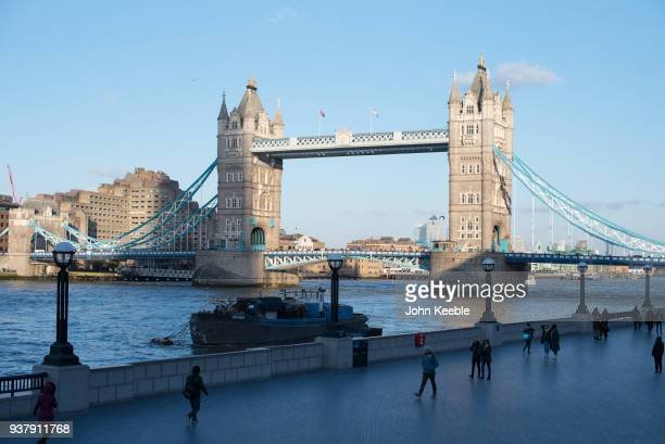 A general view of Tower Bridge on March 19 2018 in London England