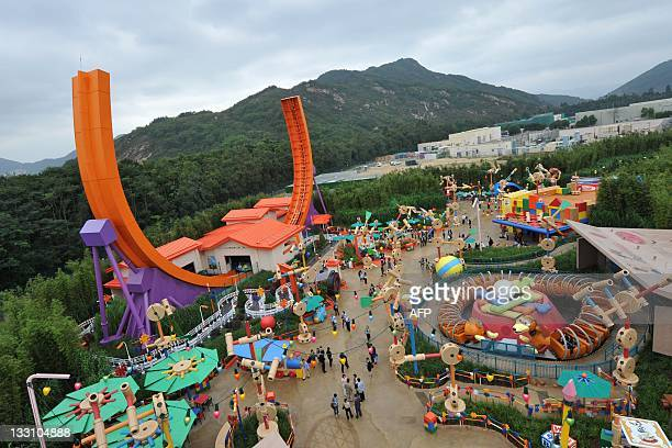 A general view of Toy Story Land at Hong Kong's Disneyland on November 17 2011 The attraction is the first stage of the resort's expansion AFP PHOTO...