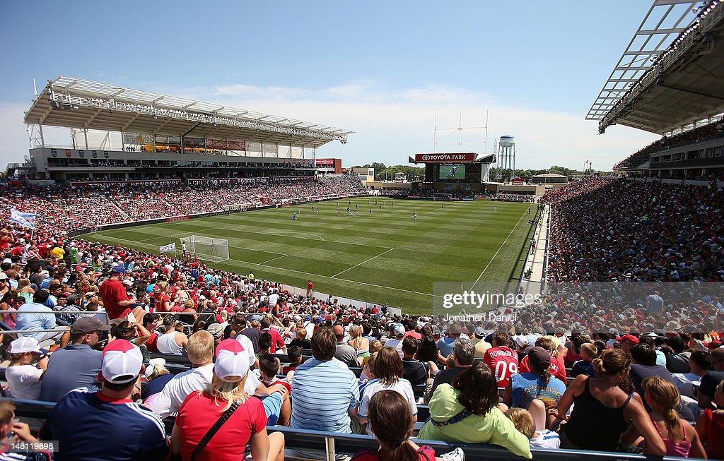 A General View Of Toyota Park As The Chicago Fire Take On The Los Angeles  Galaxy