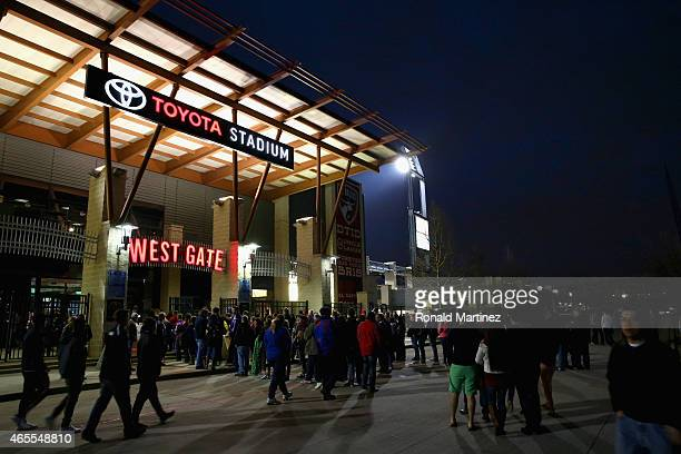 A general view of Toyota Stadium before the MLS season opener between the San Jose Earthquakes and FC Dallas on March 7 2015 in Frisco Texas