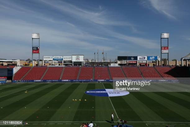 General view of Toyota Stadium before the start of the 2020 SheBelieves Cup on March 11, 2020 in Frisco, Texas.