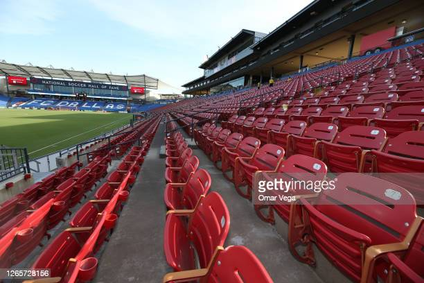 General view of Toyota Stadium prior a game between FC Dallas and Nashville SC as part of the Major League Soccer 2020 at Toyota Stadium on August...