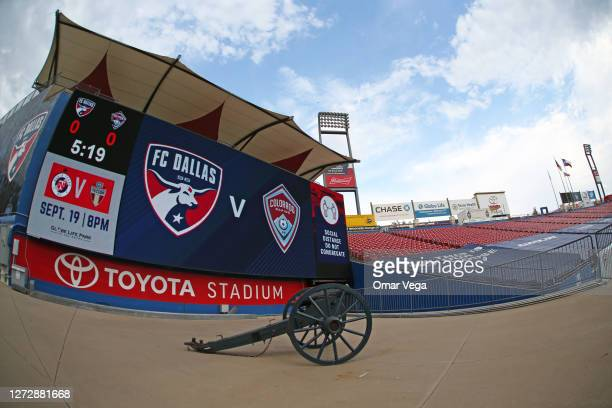 General view of Toyota Stadium prior the MLS game between FC Dallas and Colorado Rapids at Toyota Stadium on September 16, 2020 in Frisco, Texas.