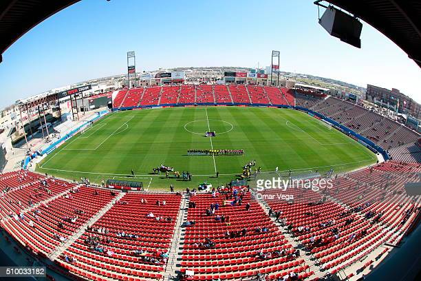 General view of Toyota Stadium prior to a Mexico USA match as part of the Women's Olympic Qualifiers on February 13 2016 in Dallas United States