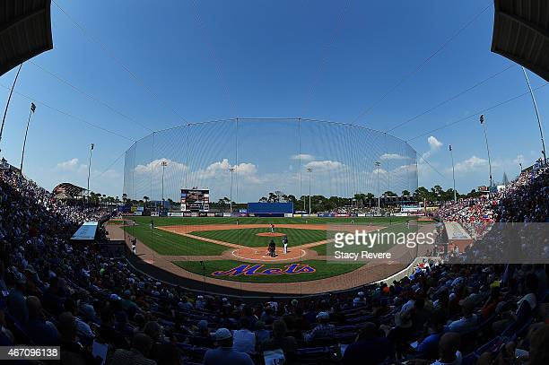 General view of Tradition Field during a spring training game between the New York Mets and the St Louis Cardinals on March 20 2015 in Port St Lucie...