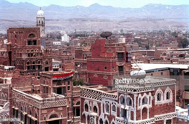 General view of traditional buildings in Old Sanaa, Yemen's capital, 06 July 2002. Many of the historic buildings are under the threat of collapse...