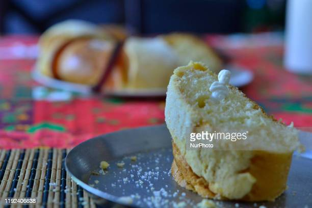 General view of traditional rosca de reyes or King Cake to celebrate the Epiphany is when the Magi from the West found the child Jesus and bring...