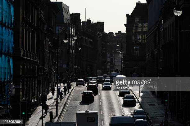 General view of traffic moving along a street in Newcastle on September 17 2020 in Newcastle upon Tyne England Almost two million people in northeast...