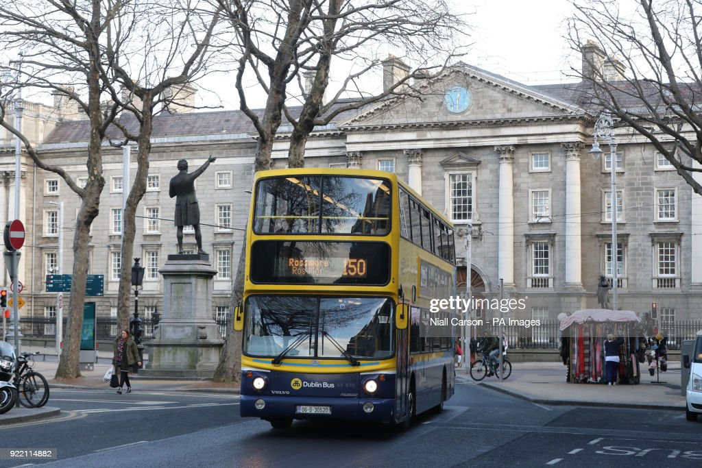 A general view of traffic on Dublin's College Green as traffic management, congestion and public safety at College Green was discussed at the Oireachtas Committee on Transport, Tourism and Sport.