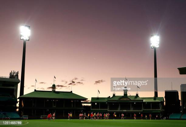 A general view of training during a Sydney Swans AFL training session at Sydney Cricket Ground on June 23 2020 in Sydney Australia