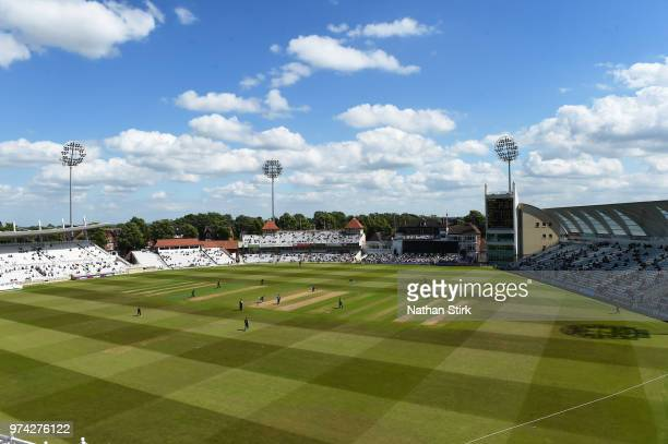 A general view of Trent Bridge during the Royal London OneDay Cup match between Nottinghamshire Outlaws and Kent Spitfires at Trent Bridge on June 14...