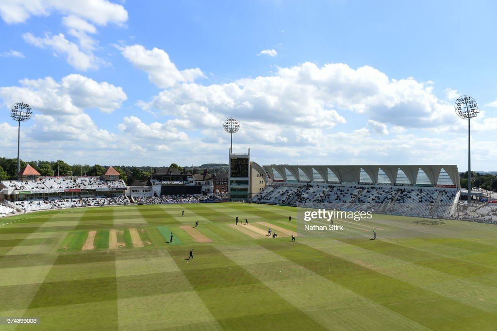 A general view of Trent Bridge during the Royal London One-Day Cup match between Nottinghamshire Outlaws and Kent Spitfires at Trent Bridge on June 14, 2018 in Nottingham, England.
