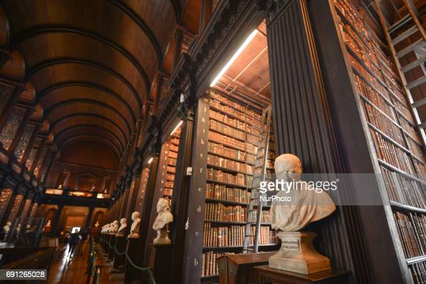 A general view of Trinity College's Long Room Four early Christian manuscripts dating back to the Dark Ages were unveiled at Trinity College today by...