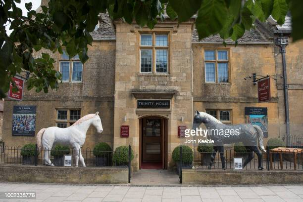 A general view of Trinity House Art Gallery on the Broadway high street in the Cotswolds on July 10 2018 in Broadway England