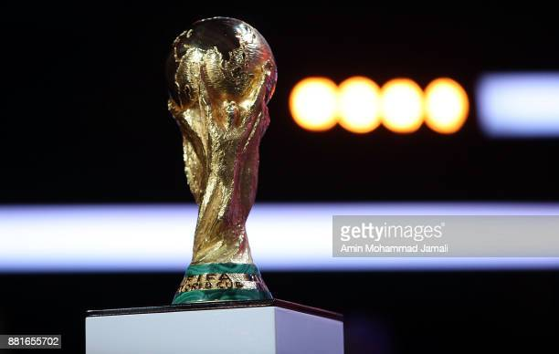 A general view of trophy during the Behind the Scenes of the Final Draw for the 2018 FIFA World Cup at the Draw hall on November 29 2017 in Moscow...